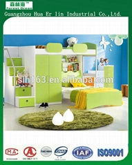 children/kids single/bunk bed funiture hot sales bed with study table