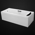acrylic bathtub with pillow and handles 2