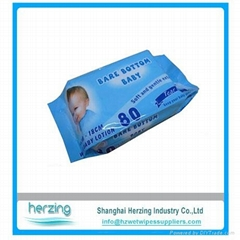 baby formula wet tissue made of spunlace baby wipes