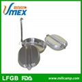 Si  er military stainless steel lunch box mess tin 5