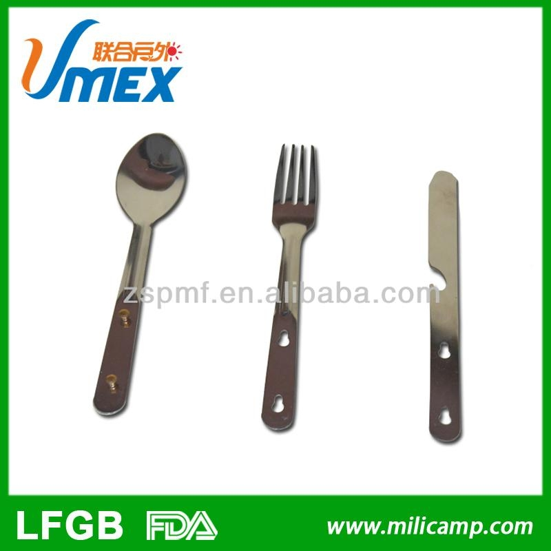 Stainless steel cutlery three-piece set outdoor camping knife fork and spoon 2