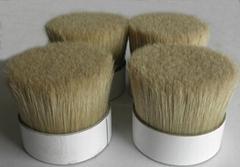 90% tops 44 mm White boiled Bristle Pig Hair for making brush