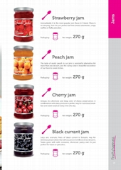 fruit jam and natural fruit syrup and ready meals
