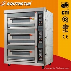 Luxury electric oven with 9 trays high quality 100% manufactory for sale