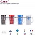 2015创意啤酒杯小号水杯 双层塑料制冷杯 冰镇果汁饮料杯定制广告 3