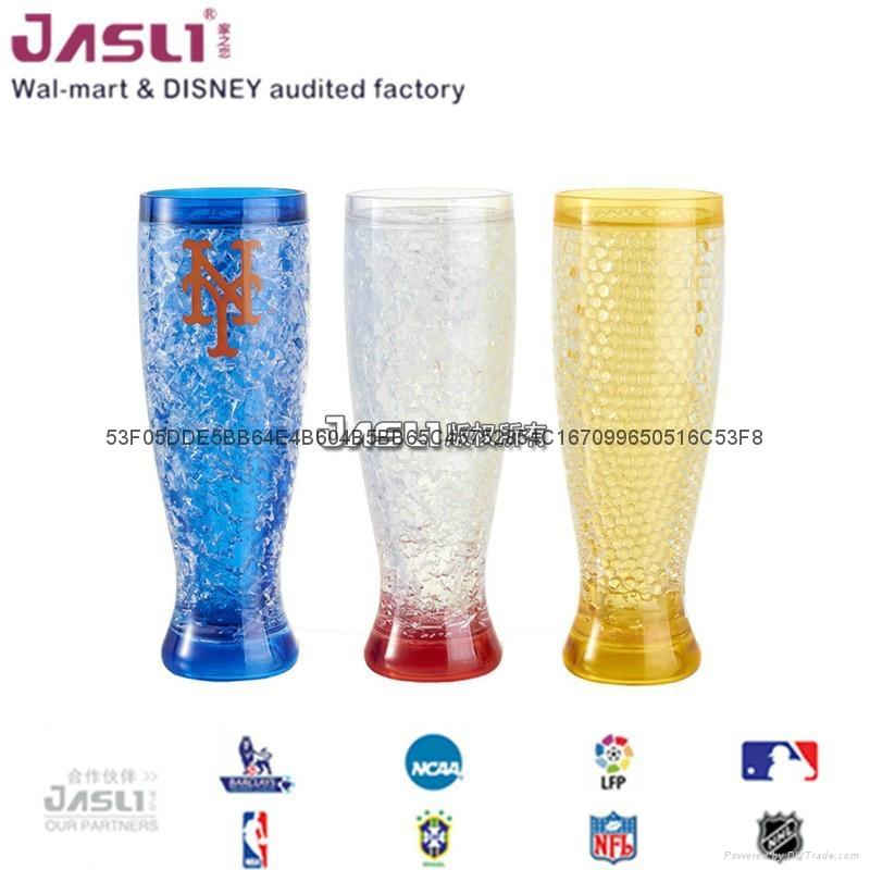 爆款双层高脚奶茶杯 创意鸡尾洋酒葡萄酒杯 定制保凉冰杯结婚礼物 3