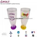 爆款雙層高腳奶茶杯 創意雞尾洋酒葡萄酒杯 定製保涼冰杯結婚禮物 4