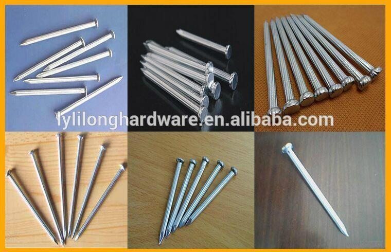 galvanized concrete nail made of  high quality low carbon #45  2