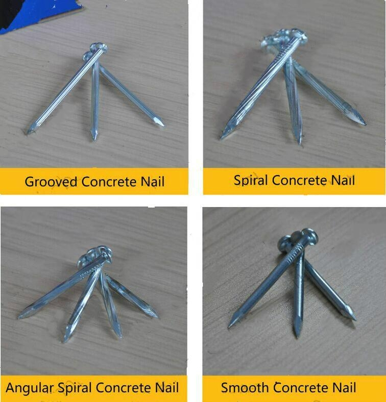 galvanized concrete nail made of  high quality low carbon #45  4