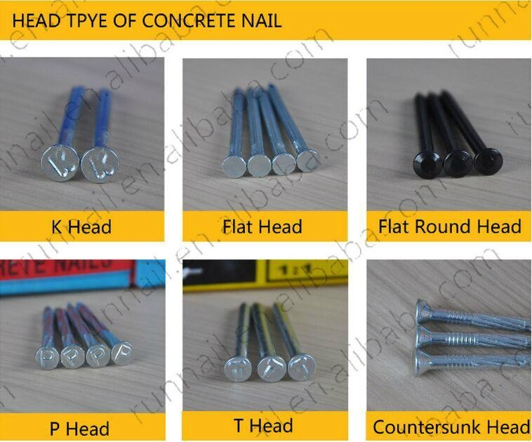 galvanized concrete nail made of  high quality low carbon #45  5