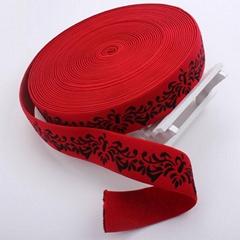 Latest design customized jacquard polyester elastic webbing