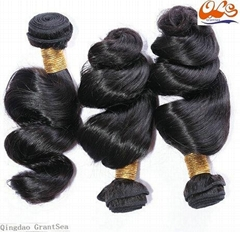 New GrantSea Hot sale Grade 6A 100% Peruvian Human Hair Wigs Hair Weft Extension