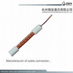 manufacture RG59/U CCA coaxial cable for CCTV Dahua camera & CVI