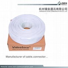 95% CCS Braid rg59 coaxial cable factory for CCTV HIKVISION camera & CVI