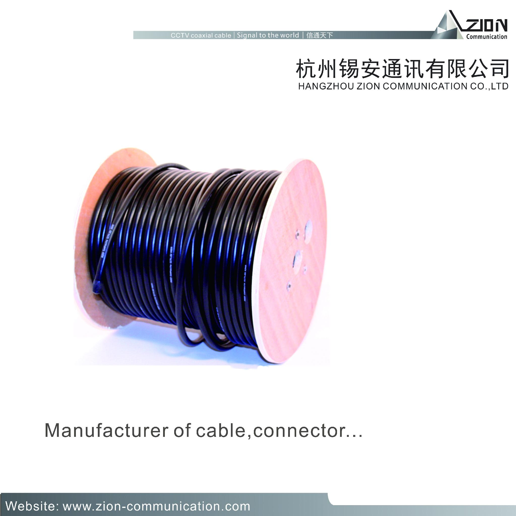RG59 B/U - Clark Wire & Cable 0.64BC SPE 95% CCA 6.0 PVC coaxial cable supplier 6