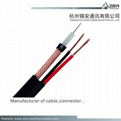 best price RG6/U CCTV COAXIAL CABLE 1.02BC FPE B.AL/Pet  95% BC 6.65PVC factory