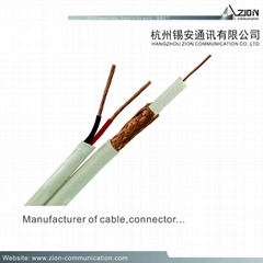 high quality RG6/U 18AWG / 2C CCTV Coaxial Cable 95%CCTV POWER CABLE for CAMERA