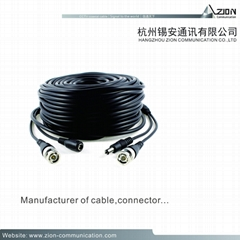 manufacture rg59 coaxial Dahua camera cable 95% CCA Braid rg59 2 core cable cmr