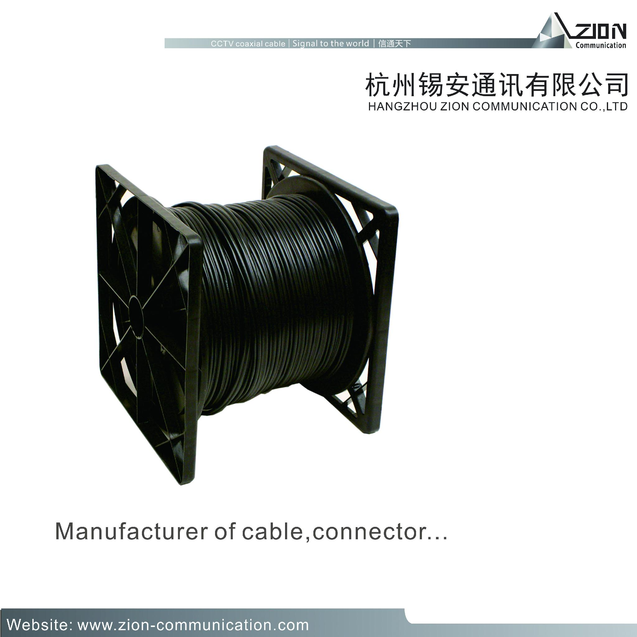 high quality rg59+2c Cost-effective CCTV coaxial cable RG59 with BC FOR CAMERA  4