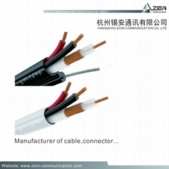 DVR ul cable for sale RG59 BU 95% CCA + 2C-0.75MM2 CCA CLASS 5 OUTDOOR MESSENGER
