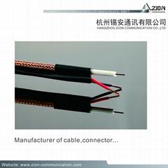 RG59 Coaxial Cable BNC CVI RG59U B.ALF 95% CCA + 2C-18AWG CCA CLASS 2 Siamese CM