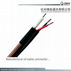 High quality stand RG6/U CCTV COAXIAL CABLE 1.02BC FPE B.AL/Pet  95% CCA 6.65PVC