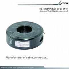 Pro RG6/U CCTV COAXIAL CABLE +2c power 1.02BC FPE B.AL/Pet  95% BC  6.65UV-PE