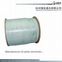 Good 0.37BC SPE AL/Pet 45% TCCA | TC 3.3 PVC | PE PK-75-2-122 CCTV COAXIAL CABLE
