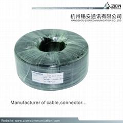Cable Factory RG59 UK CCTV COAXIAL CABLE camera 0.7 BC B.ALF FPE 47% AL 6.0 PVC