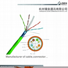 "Supply FTP CAT6 Network Cable 4x2x0.57mm/0.0224"" Bare Copper 6.8mm /0.2677""PVC"