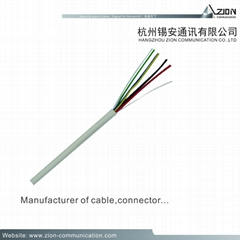 Factory 0.2mm2 Unshielded Alarm Cable 0.50TC/BC/CCA/TCCA PVC(RoHs) flame