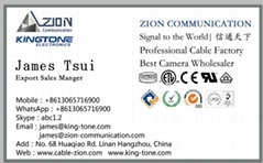 Factory 75 Ohm CCTV Coaxial Cable Copper CCA Conductor Camera & CVI  RG59+2c