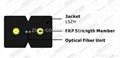 ZION GJXFH-2 Bow Type Drop Cable 2 cores FRP G657A1 fibre optical cable 4