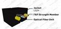 ZION GJXFH-2 Bow Type Drop Cable 2 cores FRP G657A1 fibre optical cable 5