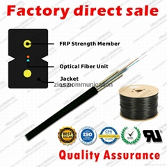 ZION GJXFH-2 Bow Type Drop Cable 2 cores FRP G657A1 fibre optical cable