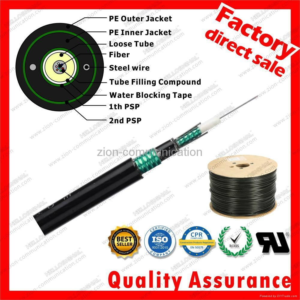 Loose Tube Dual Jacket Armored optic fiber cable GYXTW53 1
