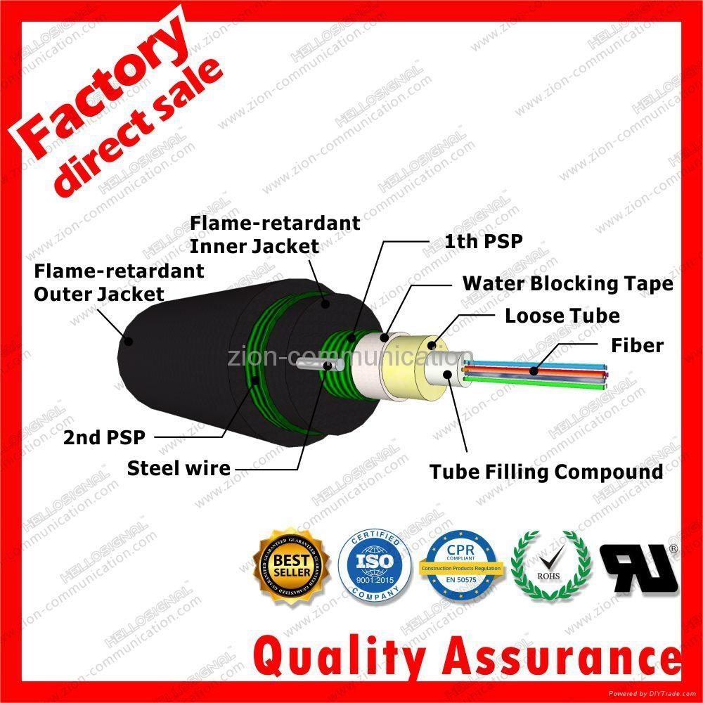 Flame retardant jacket Dual PSP optic fiber cable GYXTZW53 3