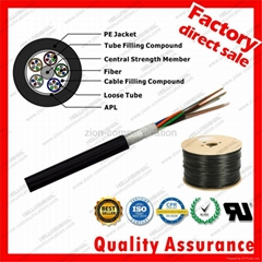 Stranded Loose Tube cable GYTA G652D Fiber Optical 4 cores Outdoor cable