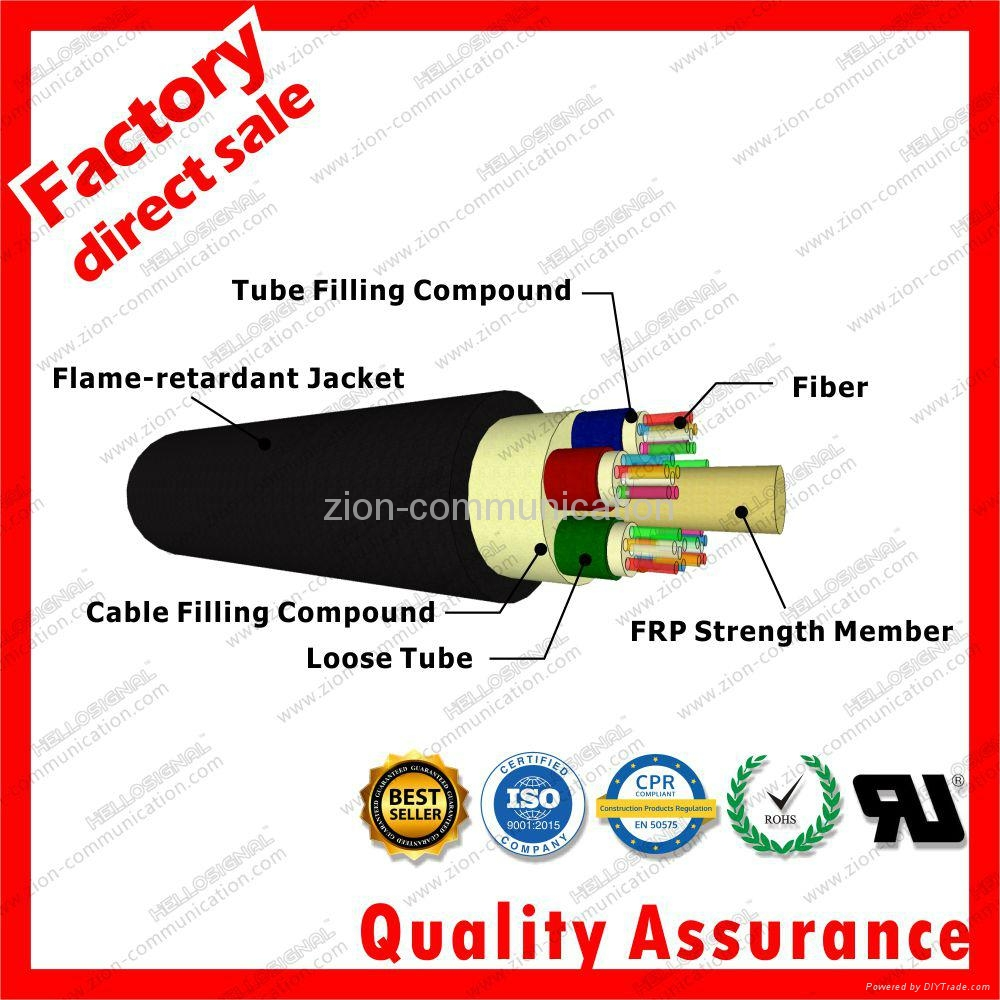 GYFTZY duct optical fiber cable non-metallic fiber optic cable for network 3