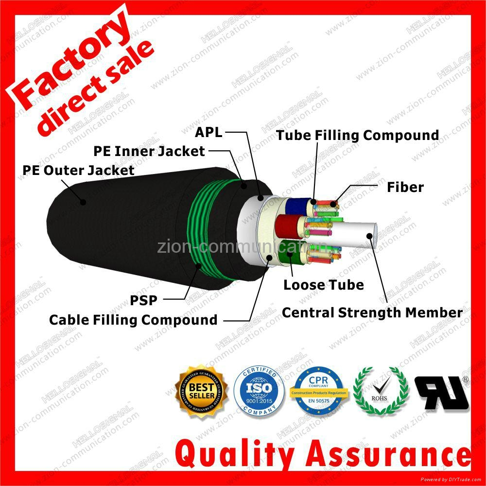 GYTA53 waterproof Optical Fiber Cable Dual jacket armored cables 3