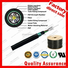 GYFTZY53 underground optical fiber cable for network FRP Dual armored communicat