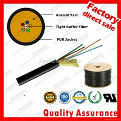 GYFJU TPU PUR Aramid Yarn Fiber Optic field Cable for military cable distributio