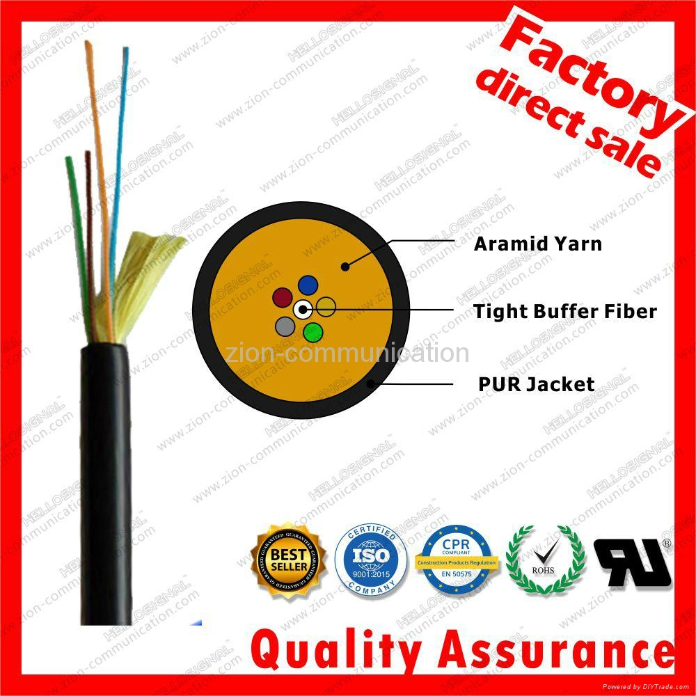 GYFJU TPU PUR Aramid Yarn Fiber Optic field Cable for military cable distributio 3