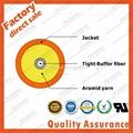 GJFJV-1 simplex 1 core 9/125 3.0mm fiber optic cable tight buffer aramid yarn st