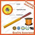 GJFJV Distribution 24F core 9/125 Multi fiber optic cable tight buffer aramid ya