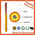 GJFJV Distribution 24F core 9/125 Multi fiber optic cable tight buffer aramid ya 3