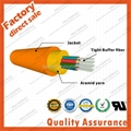 GJFJV Distribution 24F core 9/125 Multi fiber optic cable tight buffer aramid ya 4