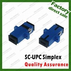ABS plastic fiber Optic simplex sc upc adapter flange coupler for single mode pa