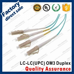 LC-LC pc OM3 10G fiber optical patch cords Duplex 3.0mm