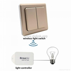 self powered free battery remote control smart switch wireless wall switch